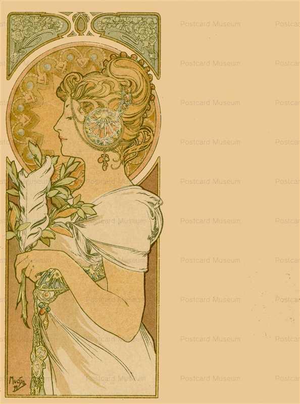 am056-Feathern 1899 Alphons Mucha