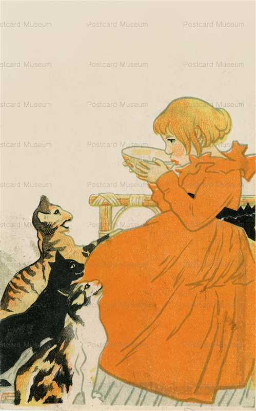 an170-少女と猫