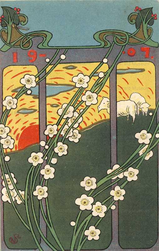 an220-羊と梅1907