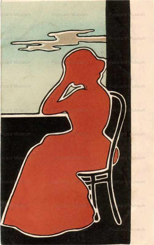 ar007-窓辺で座る女性