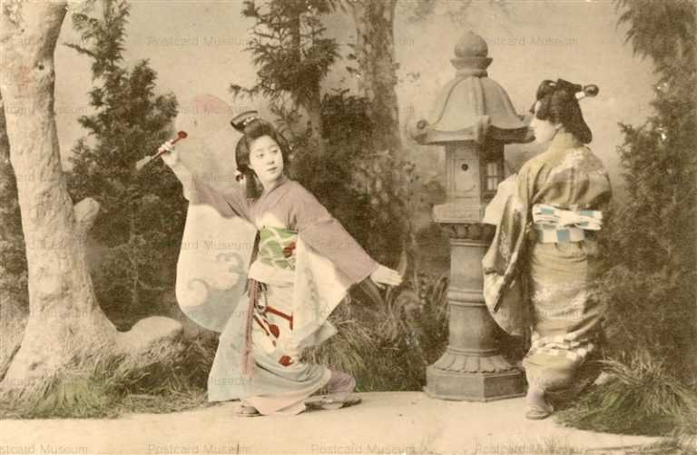 bg110-元禄艶姿二人 踊り