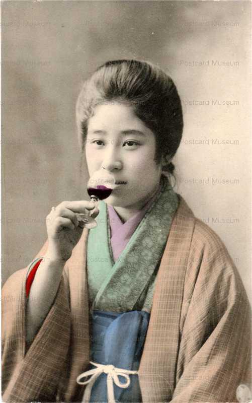 bh024-ワインを飲む美人