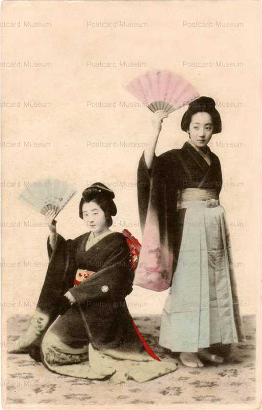 br320-扇 袴と着物美人