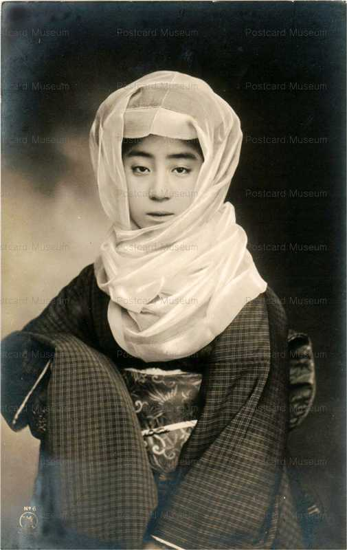 bv009-ベール美人御高祖頭巾風