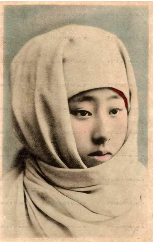 bv010-ベール美人御高祖頭巾