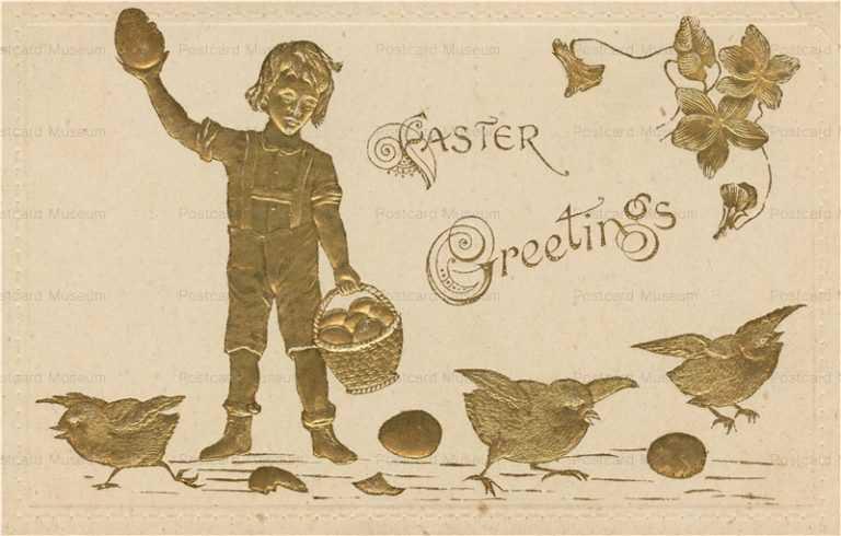 e340-Easter Greetings Embossed