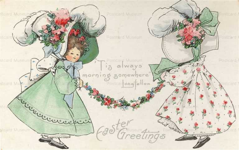 e361-Easter Big Bonnet Girls