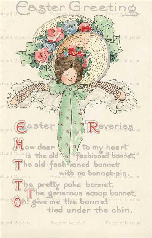 e362-Easter Big Bonnet Girl