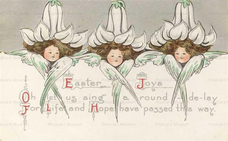 e363-Easter White Flower Girls