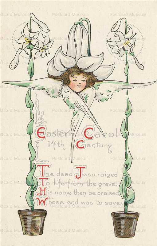 e364-Easter White Flower Girl