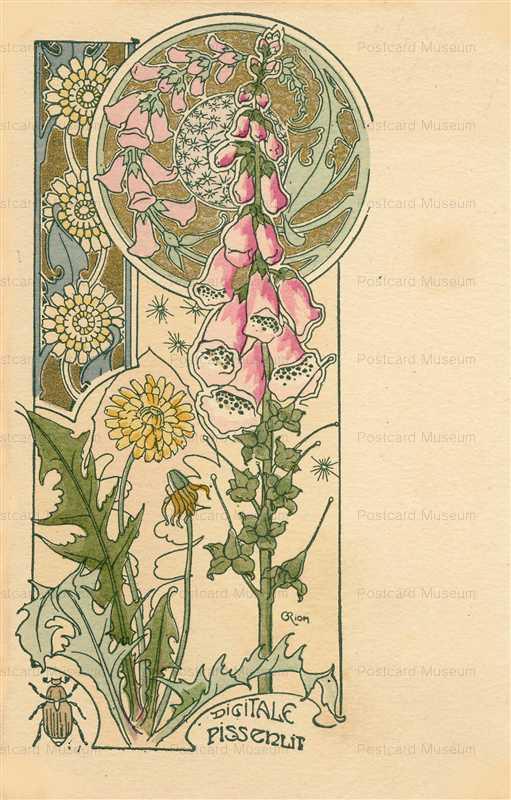 em018-C Riom Digitale Pissenlit Dandelion