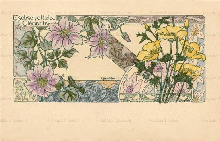 em025-A Herbinier Eschscholtzia Clematite