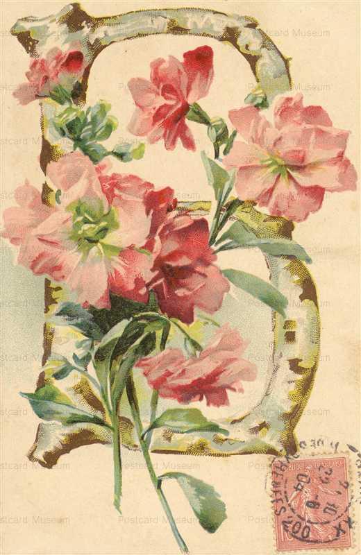 em051-Catherine Klein Letter B Flower