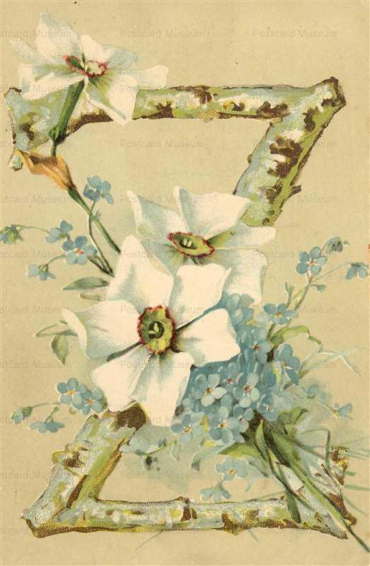 em052-Catherine Klein Letter Z Flower