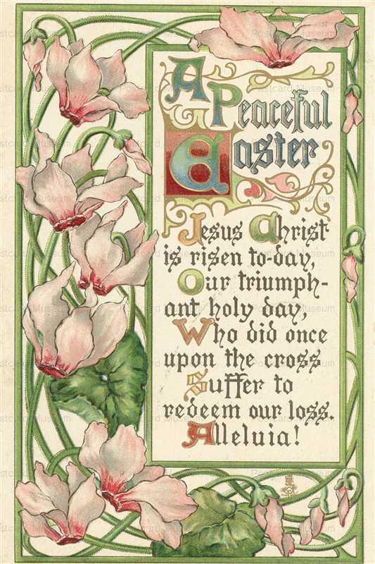 em200-Peaceful Easter Cyclamen