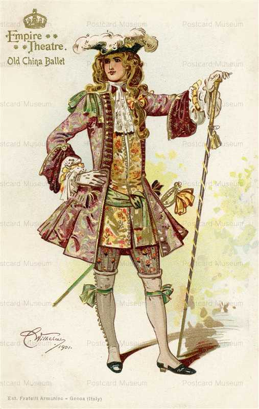 fa062-C Wilhelm Empire Theatre Old China Ballet Knight