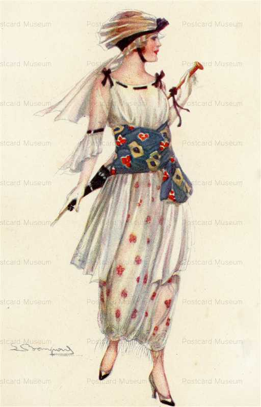fa150-Bompard Art Deco Glamour Lady in Great Dress