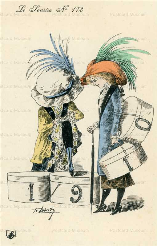fa210-Roberty Fantasy Big Hat Fashion Exaggeration Lady