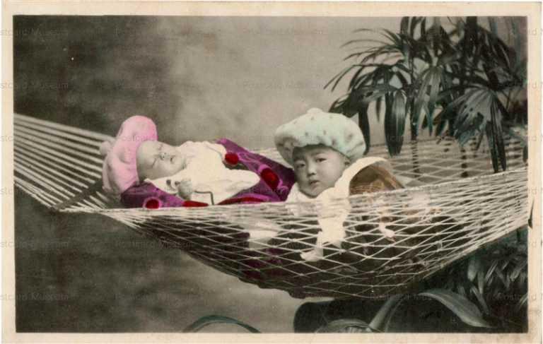 fb004-ハンモック 子供二人
