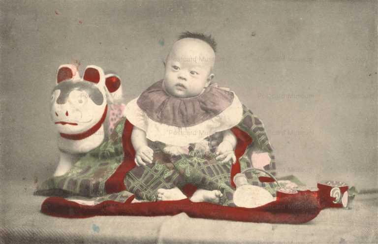 fb020-はりこの犬と赤ちゃん