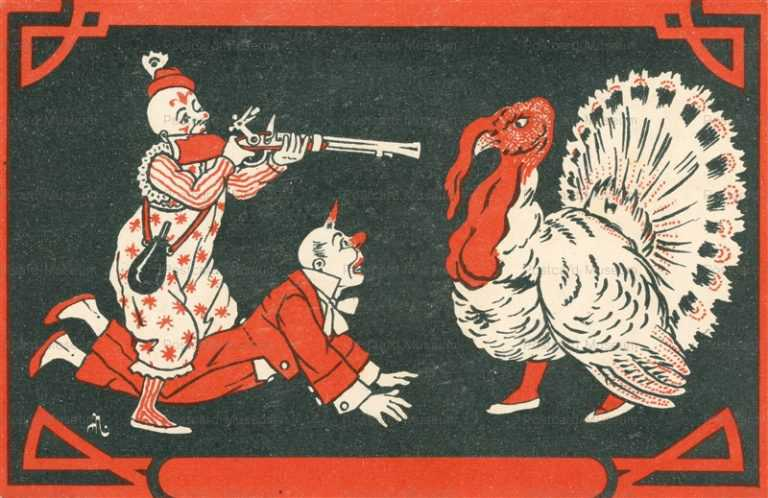 fc016-Circus Clown Turkey