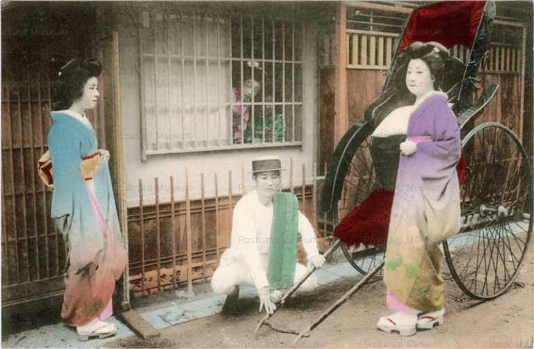 fj003-人力車 芸妓 お茶屋
