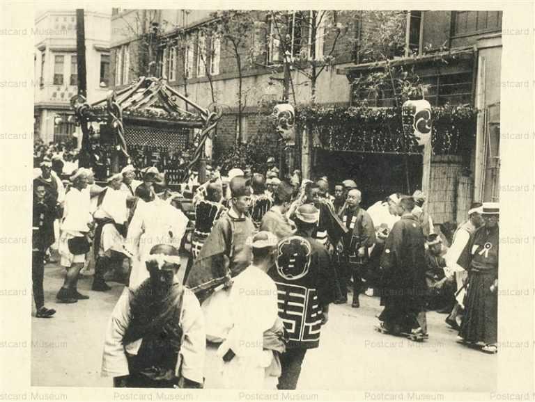 fm023-Kanda Myojin festival 神田明神祭礼 神田栄町町内の大神輿 昭和初期