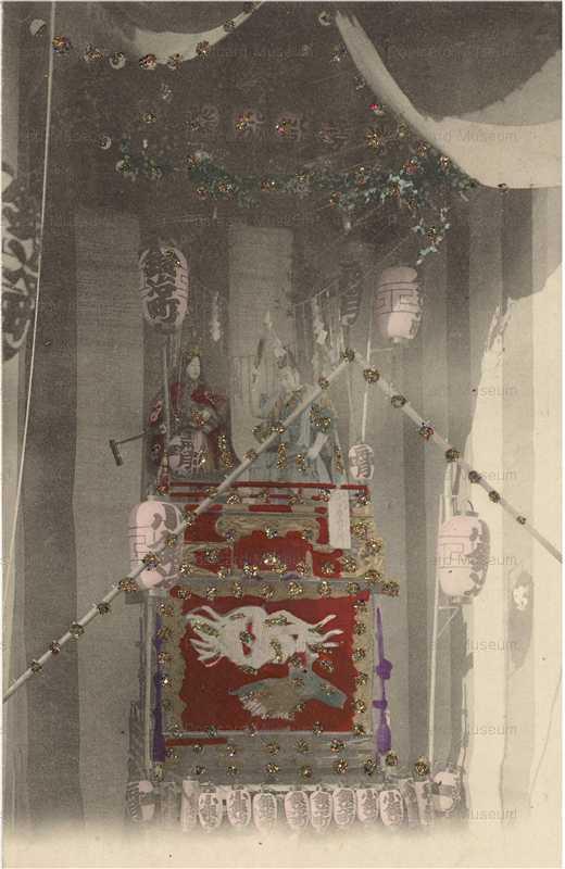 fm035-神田明神の山車 鍛冶町 凱旋記念山車 原舟月作 三条小鍛冶宗近と小狐丸