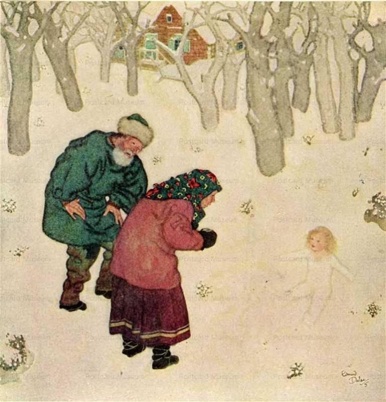 fo125-Edmond Dulac Snegorotchka Fairy Book