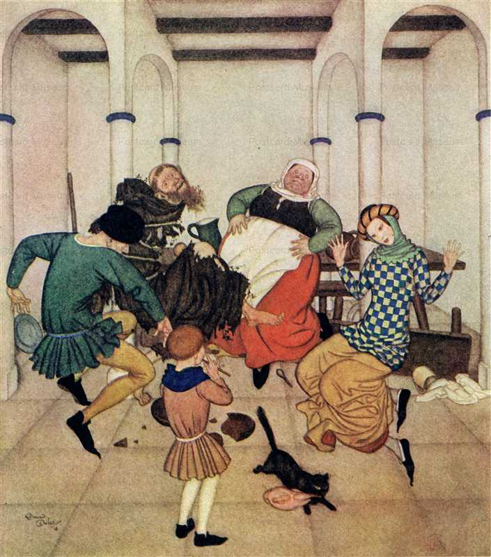 fo135-Edmond Dulac the Friar and the Boy Fairy Book