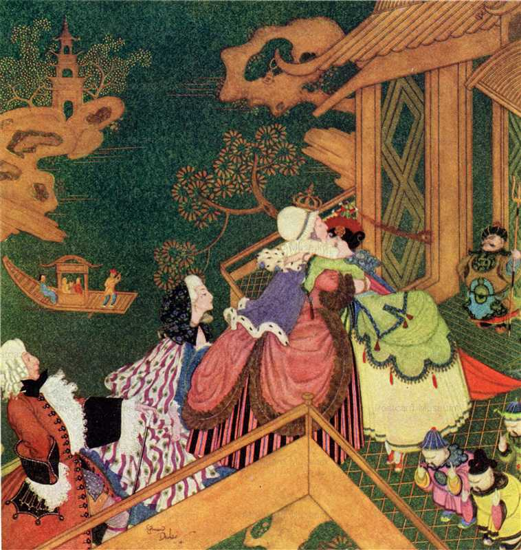 fo136-Edmond Dulac the Green Serpent Fairy Book