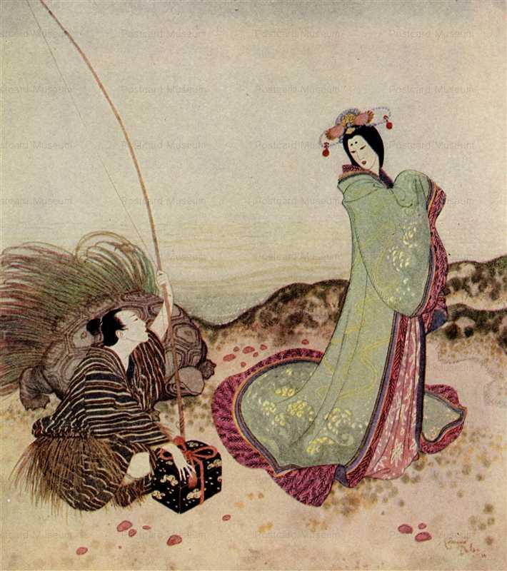 fo137-Edmond Dulac Urashima Taro Fairy Book
