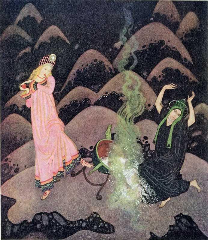 fo139-Edmond Dulac the Fire Bird Fairy Book