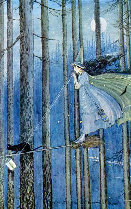 fo220-Ida Rentoul Outhwaite the Witch on Her Broomstick
