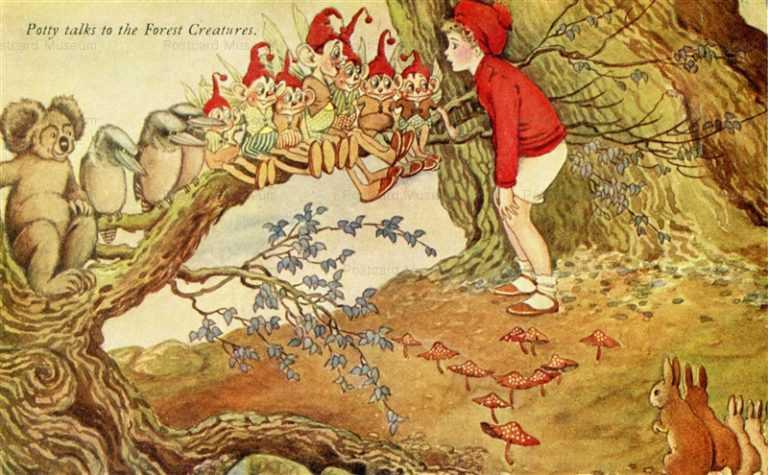 fo240-Ida Rentoul Outhwaite Potty Talks to Forest Creatures
