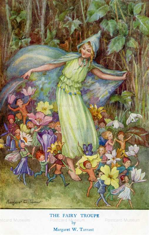 fo310-Margaret Winifred Tarrant Fairy Troupe Fairies in Arcady Series