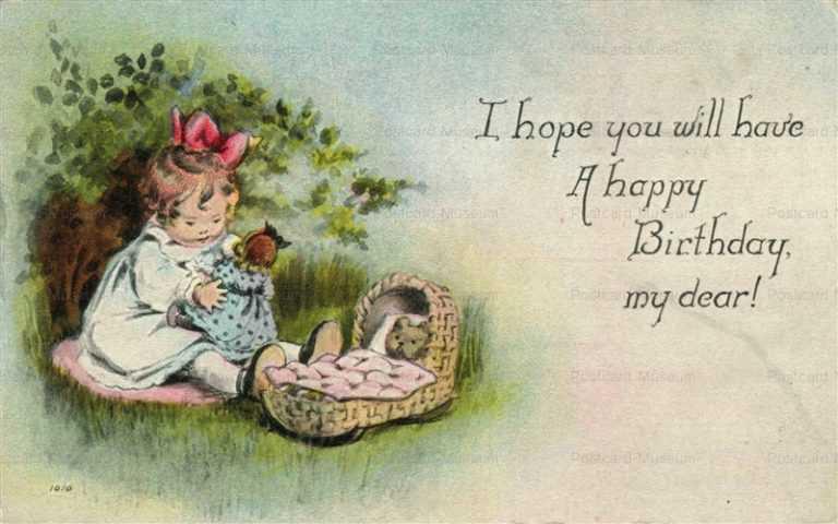 hb002-Happy Birthday Bear&Doll