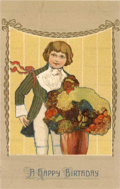 hb012-Birthday Smart Boy with Bouquet