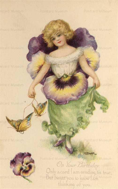 hb018-M Dulk Fantasy Pansy Flower Girls 1907