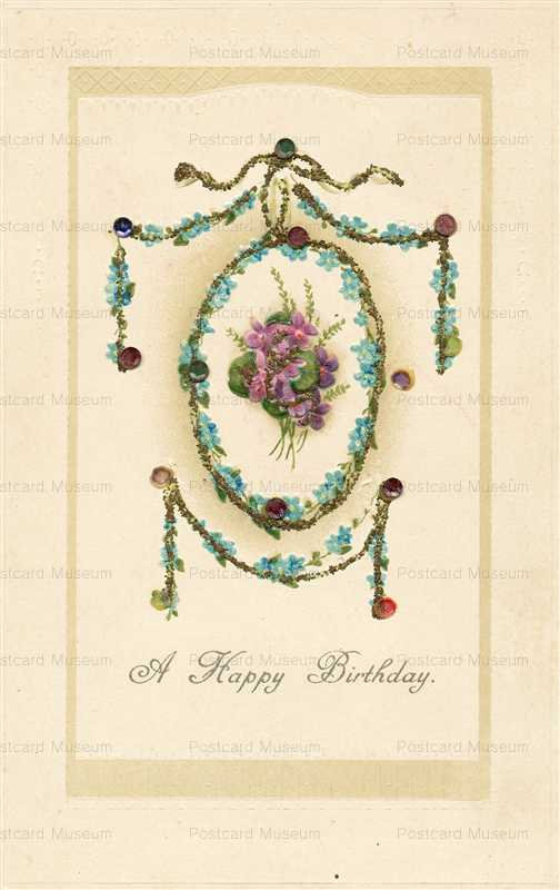 hb120-A Happy Birthday Embossed
