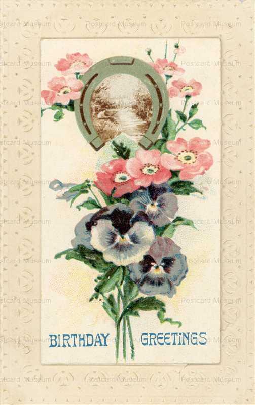 hb160-Birthday Greetings Flowers