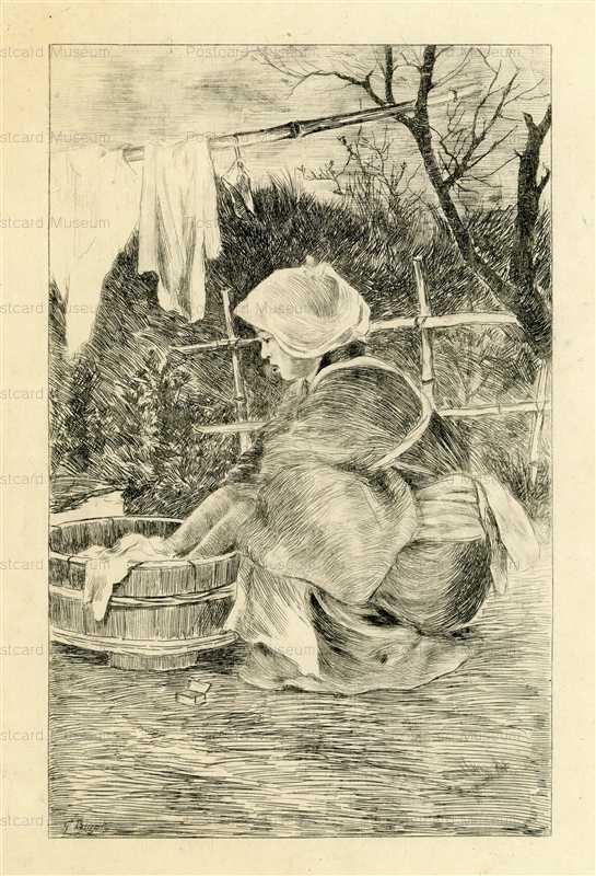 jp715-Bigot Japanese Washing Woman