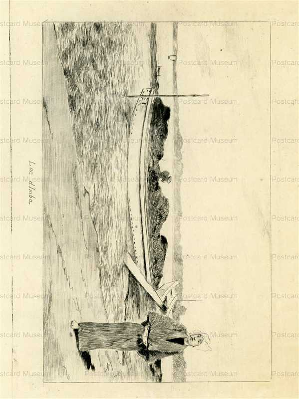 jp716-Bigot Japanese Man and Boat