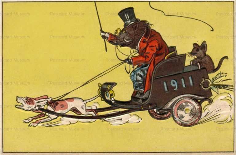 nbz010-push dog 1911 猪の御車