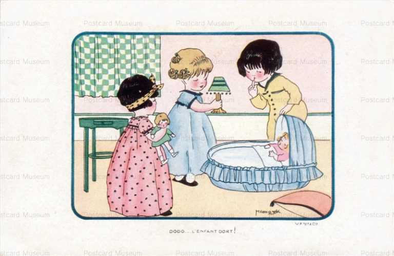 qb150-Vanasek Child Girls Dolls Sleep