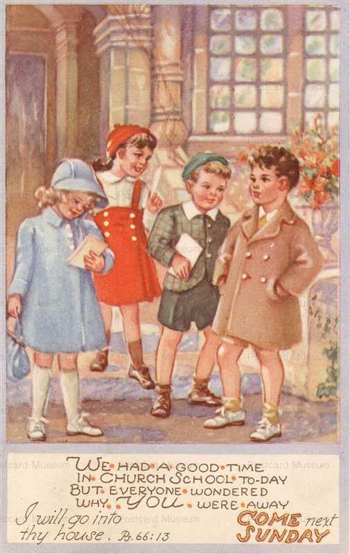 qb230-Sunday Church School Invitation 1945