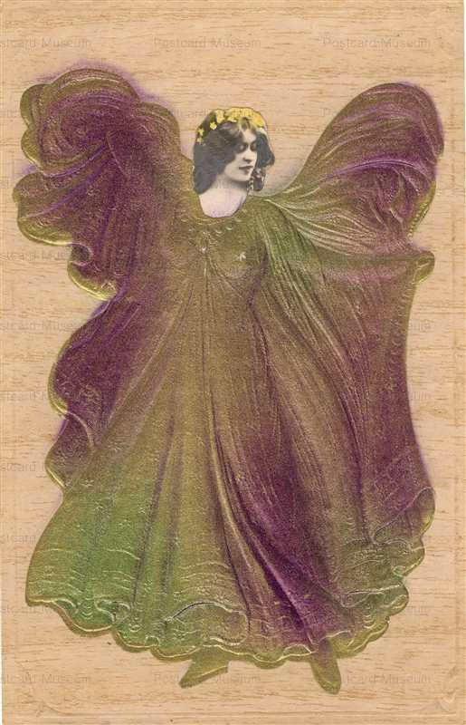 rm007-Beautiful Woman Butterfly Dress