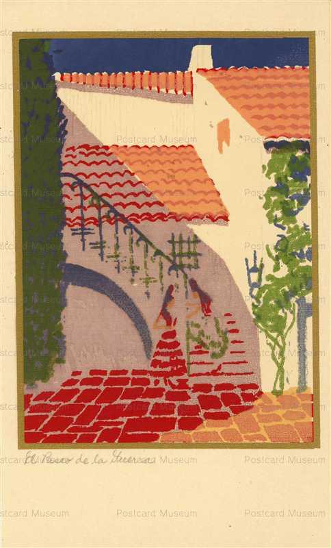 rm009-Handmade Serigraph Postcard Topanga Canyon CA 2