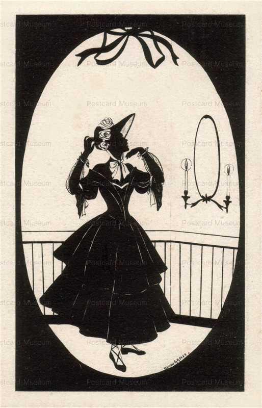sib014-Looking Mirror Lady Silhouette