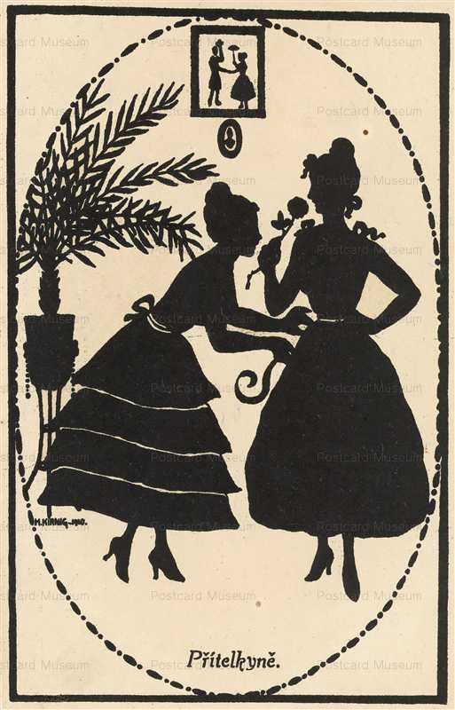 sib028-Two Women Silhouette